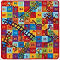Snakes and Ladders Rug 100 x 100 cm produced by Oriental Weavers - quick delivery from UK.