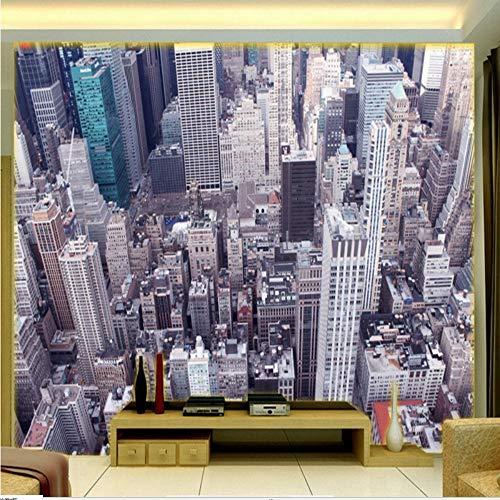 Zybnb Fototapete 3D Stereo Hd Wallpaper Vogelperspektive Stadtlandschaft Tv Wand Lobby Wohnzimmer Wandbild Benutzerdefinierte Tapete-350X250Cm 6280 Stereo