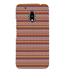 Checks Diamond Pattern 3D Hard Polycarbonate Designer Back Case Cover for Motorola Moto G4 Plus :: Moto G4+ :: Moto G4