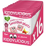 Kiddylicious Strawberry and Banana Smoothie Melts pack of 16