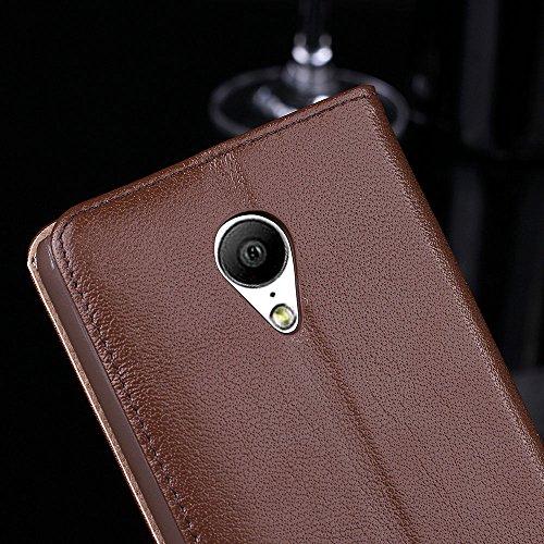 MX4 Hülle,EVERGREENBUYING - Flip Case Etui Handyhülle Für MX4G mit Sichtfenster - Aufklappbare Echtes Leder Schutzhülle im Flip Cover Style für MEIZU MX4 Schwarz Rosa
