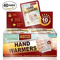 Bramble – Calentadores de mano. Calienta manos para el Bolsillo o Guantes. x 40 Pares