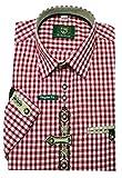 Orbis Trachtenhemd Rot weiß XL