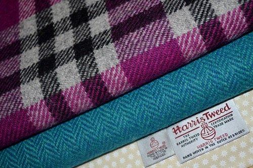 Harris Tweed Stoff 100% reine Schurwolle gemischt Bundle 2x 50/35,5auch als...