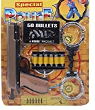 #8: Obbi - Special Police Kit With Gun Handcuffs And Bullets (Multi Color)