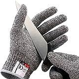 Schnittfeste Handschuhe (1 Paar) Level 5 Schutz, Lebensmittelecht – Hochwertig und Leicht (S)