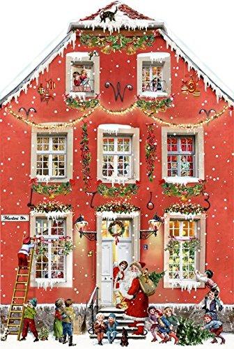 Aufstellkalender - Weihnachten bei uns Zuhaus: Zum Aufklappen und Aufstellen