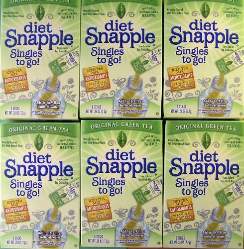 diet-snapple-singles-to-go-original-green-tea-6-sticks-in-each-box-six-boxes-by-n-a