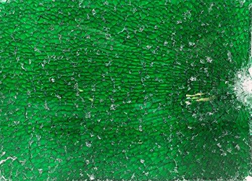 Mosaic Craft – 15 x 20 cm plate – en verre de sécurité – Vert