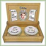 Baby Erinnerungsbox Holz | Personalisiert mit Foto, Namen & Daten | Geschenk-Set erste Locke erster Zahn | Milchzahndose | erste Locke Set (Rosa)