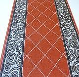 Teppich Läufer auf Maß Terrakotta 1444 Flur lfm. 11,90 Euro Breite 60 x 120 cm