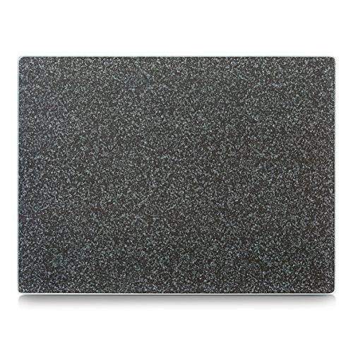 Zeller 26254 Grant Plaque de découpe Verre de Sécurité Gris 40 x 30 x 0,8 cm