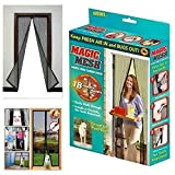 RoseLock Moskitonetz & Insektenschutz - Fliegengitter 200cm x 100cm (200x100) für Tür, Fenster und Balkontür und 18 Magneten | Türvorhang gegen Insekten