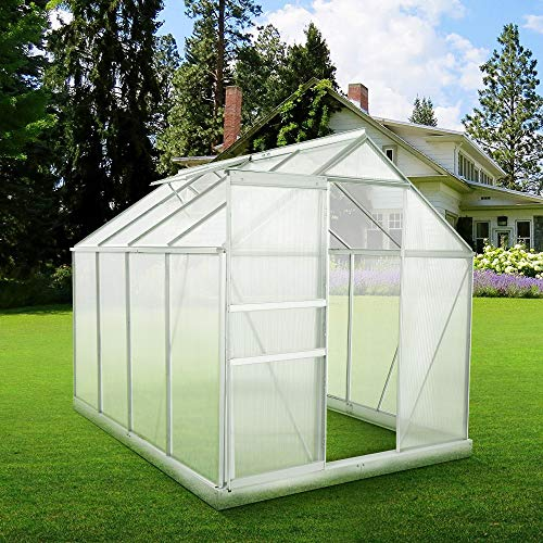 Zelsius Aluminium Gewächshaus für den Garten - 4
