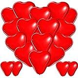BESTZY Palloncini Cuore Rosso, 100 Palloncini Matrimonio Cuore, Palloncini a Forma di Cuore Elio per Matrimoni, Festa Evento