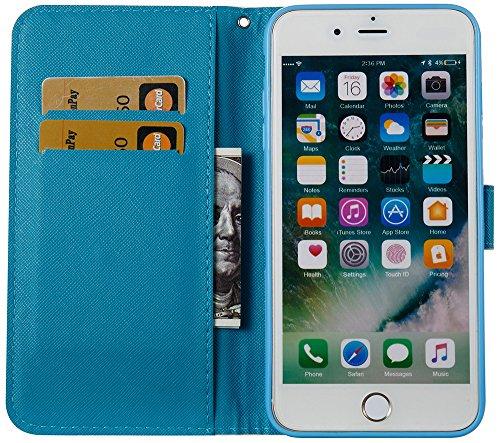 Iphone 7 Plus Coque silicone, Iphone 7 Plus Case Cuir, Iphone 7 Plus Accessoire apple, Coque Iphone 7 Plus silicone, Nnopbeclik® à Rabat Fonction Wallet/Portefeuille en Bonne Qualité PU Cuir Housse (5 dreamcatcher