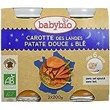 Babybio Pots Carotte des Landes Patate Douce/Blé 400 g -