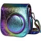 SAIKA Protective Case For Fujifilm Instax Mini 9 Instant Camera. Also Fits The Mini 8 And Mini 8+ Camera. With Adjustable Shoulder StrapPocket - Psychedelic