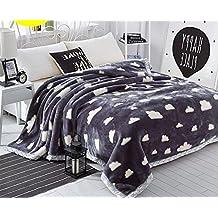 Manta de tejido de manta con forro polar, manta Snuggle reducir ansiedad ayuda autismo cama