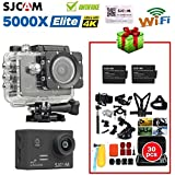 Doodlebuzz 30in1 Accessories with SJCAM SJ5000X WiFi Elite Edition Action Camera(2.0inch LCD,12MP,4K @24FPS,Sony IMX078 Sensor,Gyro Anti-Shake) with Extra 2pcs Battery