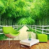 NNKKBH Benutzerdefinierte Wandbild-Tapete 3D Modernes Einfaches Bambus-Waldzaun-Weg-Foto-Wand-Malerei-Wohnzimmer-Fernsehsofa-Hintergrund-Wand-Papier 3 D, 90Cm × 60Cm