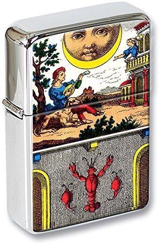 Tarot (la lune, The Moon) Mechero con tapa EN UNA LATA DE REGALO