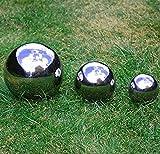 i-jct regardant Décoration de jardin en acier inoxydable Miroir Sphères Set de 3tailles différentes avec & 18cm