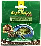Tetra ReptoDelica Snack (natürliche Leckerbissen für Wasserschildkröten, mit Daphnien Wasserflöhen und Vitaminen), 4 Einzelbeutel (12 g)