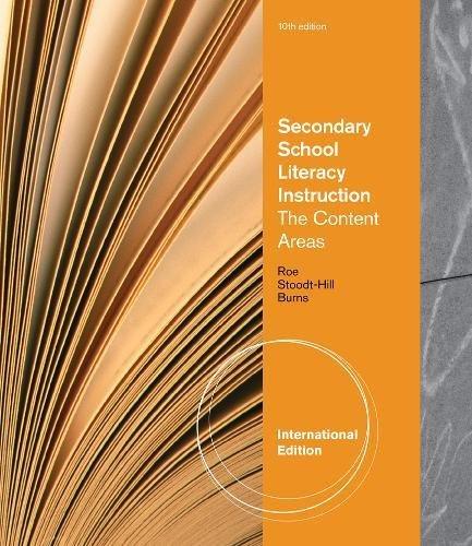 Secondary School Literacy Instruction, International Edition