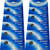 Eunicell Lot de 10 piles bouton Lithium 3v CR927 [Camera]