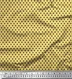 Soimoi Gelb Viskose Chiffon Stoff geometrischer Stern