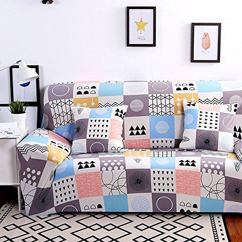 HYSENM 1/2/3/4 Sitzer Sofabezug Sofaschutz Sofaüberwurf Polyesterfasern weich elastisch farbecht, Beige 3 Sitzer 190-230cm