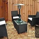 Elitezotec Chauffage de terrasse à gaz, chauffage de table de jardin 4kW, chauffage au butane propane
