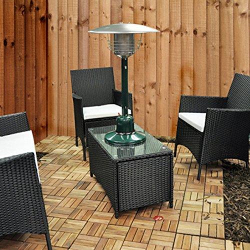 elitezotec 4 kW Tisch-Gas-Terrassenheizung, für den Außenbereich, Garten, Tischheizung, Butan-Propan