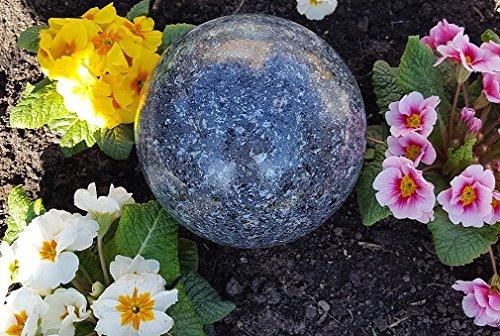Kugel aus Edelstahl 15 cm Dekokugel Granit anthrazit Dekorationskugel Edelstahlkugel