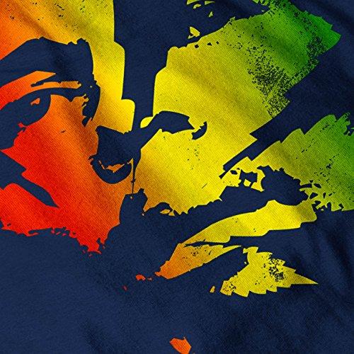 Marley Légende Cannabis Rasta Femme S-2XL Sweat à capuche le dos | Wellcoda Bleu