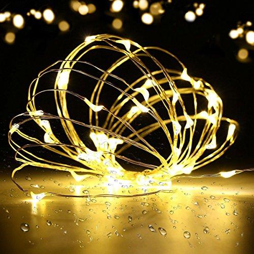 prezzo Stringa Fata Luce, SOLMORE String Luce 5M 50LED Luce di Natale Luci Della Stringa per la Decorazione Casa Matrimonio Natale Partito Silver Filo Della Lampada Bianco Caldo