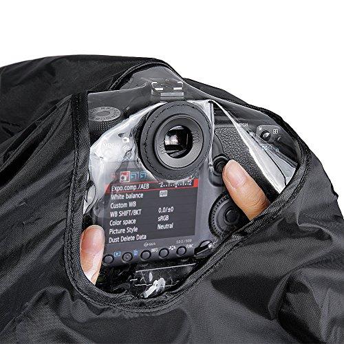 Neewer pioggia antipioggia per fotocamera digitale SLR, con lente fino a 257 mm lunghezza 95 mm diametro