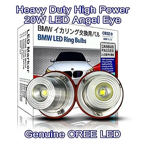 Heavy Duty High Power 20W CREE LED Angel Eyes Halo Ring DRL Marker Light True White 7000K Daytime running light (pack of