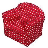 1home Classic Kindersofa Kindercouch Kindersessel Sofa Kindermöbel Spielzimmer Kinderzimmer Babysitz Babysessel Formstabiler Schaumsoff Mini Sessel Rot