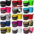 """Meister 180"""" Elastic Cotton Hand Wraps for MMA & Boxing (Pair) - Death Skulls"""