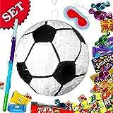 Fußball Pinata im Set mit Naschereien als Füllung für Fußball-Mottoparty Kinder