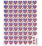 Sticker Bogen Aufkleber USA Aufkleber Herz Aufkleber Sticker für Kinder zum aufkleben dekorieren 2 Stück