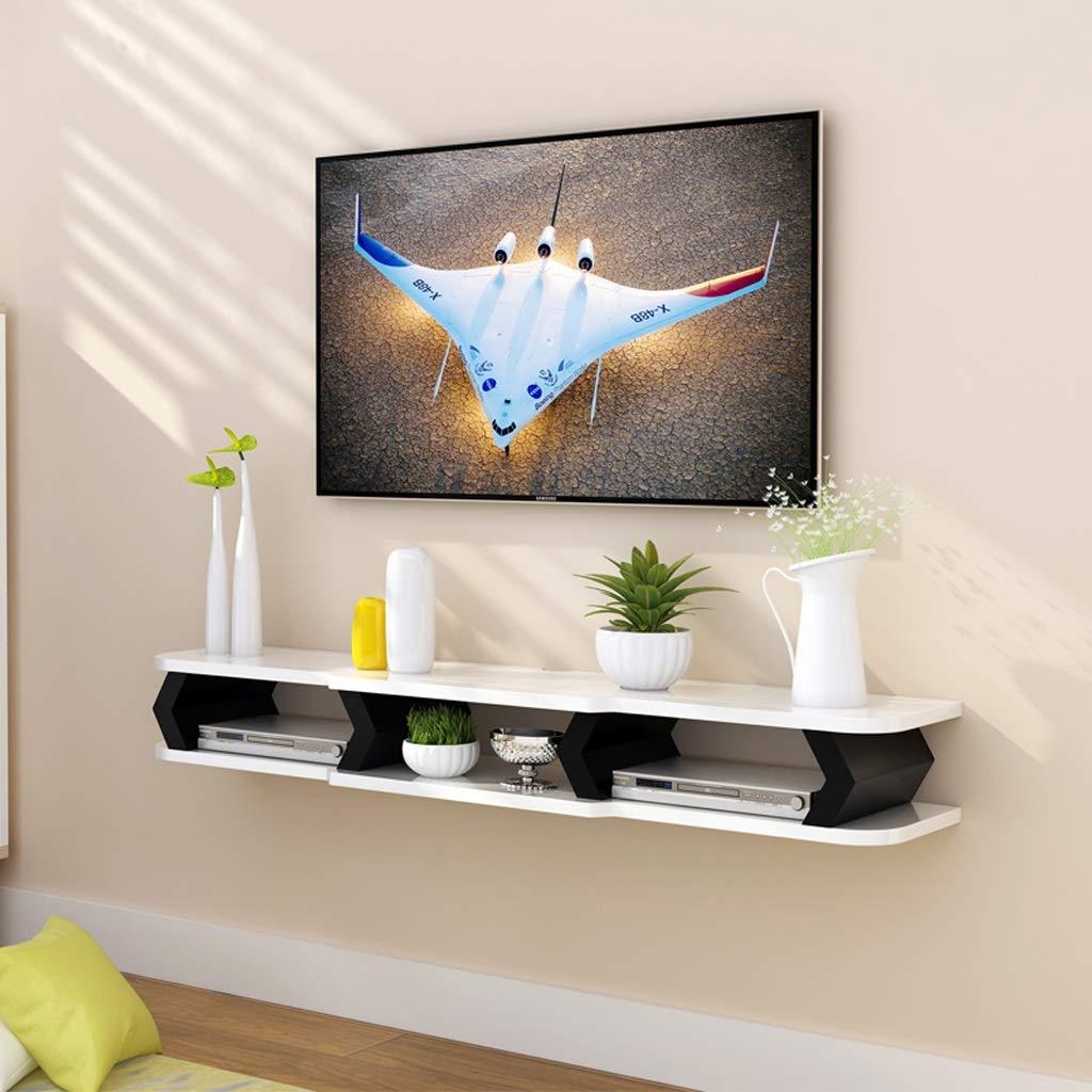Meuble de télévision mural Étagère flottante Étagère murale Chambre à  coucher Salon Mur de fond de télévision Étagère de décoration console TV  meuble