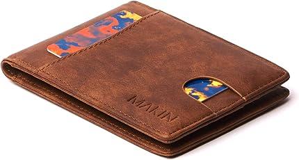 Design Portemonnaie mit Geldklammer und RFID Schutz - Premium Geldbörse mit Geldscheinklammer - Geldclip & Kartenetui - Kleiner schlanker Geldbeutel - Smart Wallet