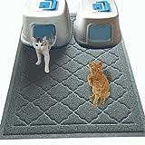 JUMBO-Katzenstreu-Matte 119,38 cm x 91,44 cm, fängt Schmutz auf, leicht zu reinigen, strapazierfähig, ungiftige Auffang-Matte – Katzenklomatte, Katzenmatte, Katzenstreumatte