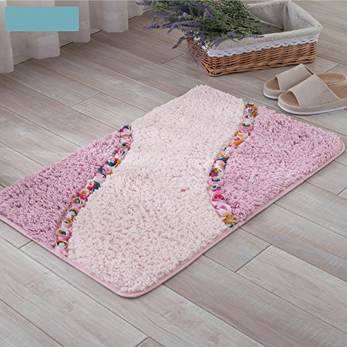 Lnxd 3D-rose Blumen Dekoration schöne Badezimmer Teppich, Eingang Fußmatte Wolldecke Anti-Slip Schlafzimmer Küche Fußmatte Badematten Teppiche, - Küche-teppich-blumen