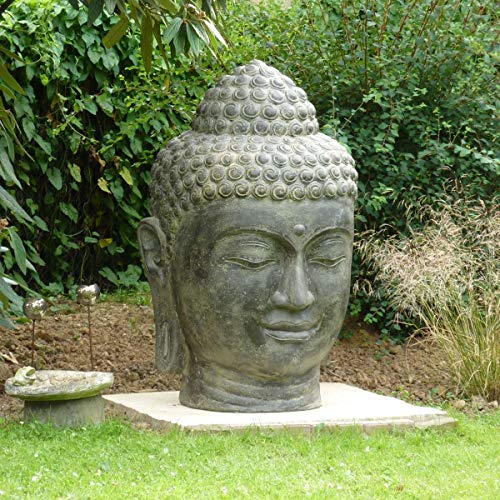 Oriental Galerie Buddha Kopf Groß Stein 120 cm