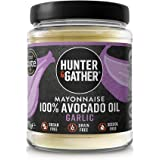 Hunter & Gather Maionese con Olio di Avocado, con Aglio, Senza Zucchero e Glutine, Paleo e Chetogenica - 175g