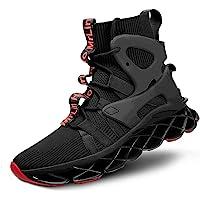 Hello MrLin Men's Running Shoes Slip On Athletic Blade Sock Sneakers Hip Hop Tennis Fashion